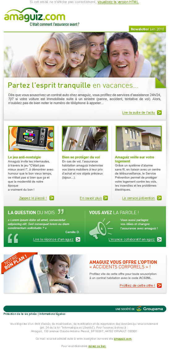 Newsletter amaguiz.com - Romain Cousin